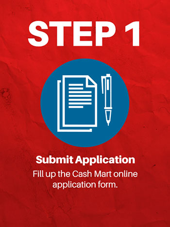 online loan application step 1