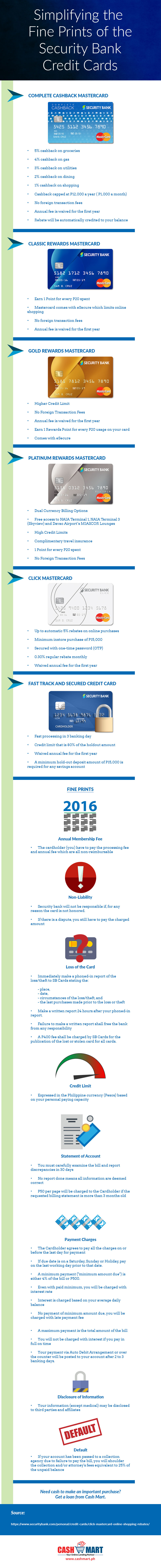 Simplifying the Fine Prints of the Security Bank Credit Cards